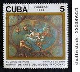cuba   circa 1989  a stamp... | Shutterstock . vector #230389321