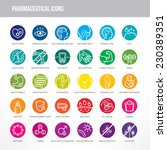 pharmaceutical medical icons... | Shutterstock .eps vector #230389351