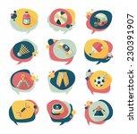 sport speech bubble flat banner ... | Shutterstock .eps vector #230391907