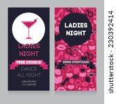 template for ladies night party ... | Shutterstock .eps vector #230392414