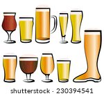 vector illustration set of beer ... | Shutterstock .eps vector #230394541