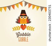 happy thanksgiving day card ... | Shutterstock .eps vector #230403751