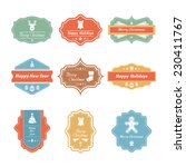 vector christmas badges... | Shutterstock .eps vector #230411767