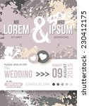 save the date or wedding...   Shutterstock .eps vector #230412175