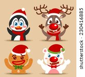 vector christmas character icon ... | Shutterstock .eps vector #230416885