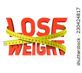 lose weight word with measuring ... | Shutterstock .eps vector #230424817