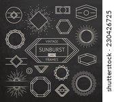 vintage sunburst and frames.... | Shutterstock .eps vector #230426725