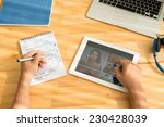 man working on website design | Shutterstock . vector #230428039