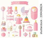 vector illustration of babies... | Shutterstock .eps vector #230428624