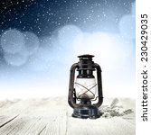 snow and lamp  | Shutterstock . vector #230429035