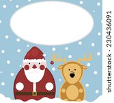 santa and deer. snow. new year | Shutterstock .eps vector #230436091
