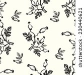 ink painted seamless pattern... | Shutterstock .eps vector #230440621