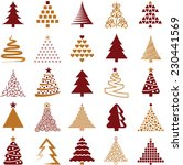 christmas tree icon collection  ... | Shutterstock .eps vector #230441569