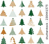 christmas tree icon collection  ... | Shutterstock .eps vector #230441575