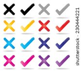 check mark icon set   colorful... | Shutterstock .eps vector #230444221