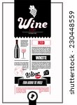 wine list. design template. | Shutterstock .eps vector #230448559