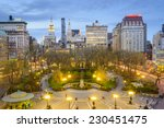 new york city  usa cityscape at ... | Shutterstock . vector #230451475