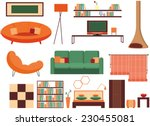 furniture icon set  interior...