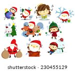 christmas  holiday  and winter... | Shutterstock .eps vector #230455129