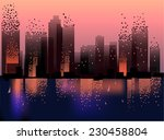 geometric city architectural ... | Shutterstock .eps vector #230458804