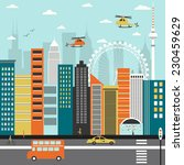 modern city street. | Shutterstock . vector #230459629