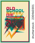 retro poster with ghetto... | Shutterstock .eps vector #230460301