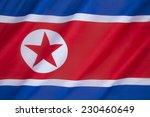 Small photo of The flag of North Korea was adopted on 8 September 1948, as the national flag and ensign of this isolationist Stalinist state.