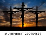 Three Crosses On Top Mountain...