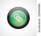 clip glass sign icon green...