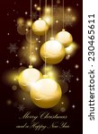christmas background | Shutterstock .eps vector #230465611