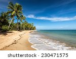 A View Of Tropical Beach With...