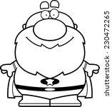a cartoon grandpa superhero... | Shutterstock .eps vector #230472265