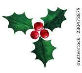 christmas holly berry symbol.... | Shutterstock . vector #230473879