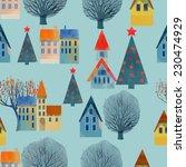 watercolor vector christmas... | Shutterstock .eps vector #230474929