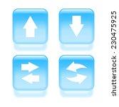 glassy arrow icons. vector...