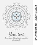 round vector ornament. circle... | Shutterstock .eps vector #230486035