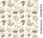 christmas seamless retro...   Shutterstock .eps vector #230486521