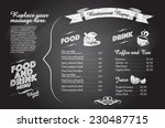 restaurant food menu design... | Shutterstock .eps vector #230487715