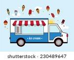 ice cream car icon. | Shutterstock .eps vector #230489647