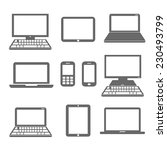 computerized devices | Shutterstock .eps vector #230493799