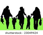 women and children walking in... | Shutterstock . vector #23049424