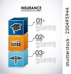 insurance graphic design  ... | Shutterstock .eps vector #230495944