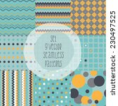 set of geometric patterns.... | Shutterstock .eps vector #230497525