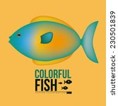 fish design over yellow... | Shutterstock .eps vector #230501839