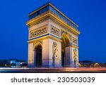 the arc de triomphe in paris at ... | Shutterstock . vector #230503039