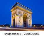 the arc de triomphe in paris at ... | Shutterstock . vector #230503051