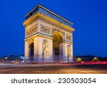 the arc de triomphe in paris at ... | Shutterstock . vector #230503054
