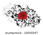 vector. black floral background ... | Shutterstock .eps vector #23050357