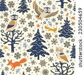 christmas background. seamless... | Shutterstock .eps vector #230504659