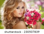beautiful bride wedding day... | Shutterstock . vector #230507839